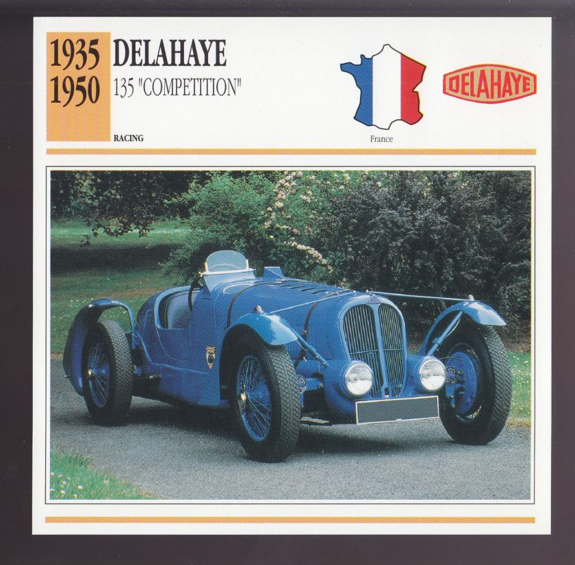 1935-1950 Delahaye 135 Competition Le Mans Race Car