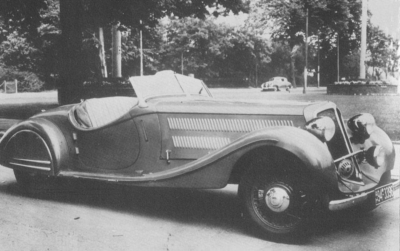 1936 Borgward werpt zich op grote luxe personenwagens en ontwerpt de Hansa 3500 Privat
