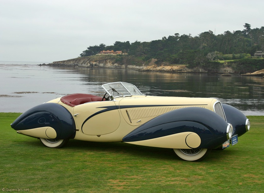 1936 Delahaye 135 Figoni et Falaschi Torpedo Cabriolet F