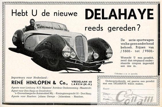 1937 delahaye hinlopen