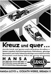 1937 hansa 1100 i 1700