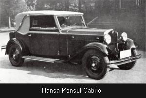 1937 hansa konsul Cabrio
