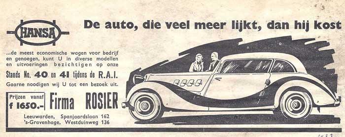 1937 Hansa rosier ad