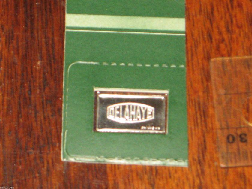 1937 STERLING SILVER METAL INGOT, Delahaye