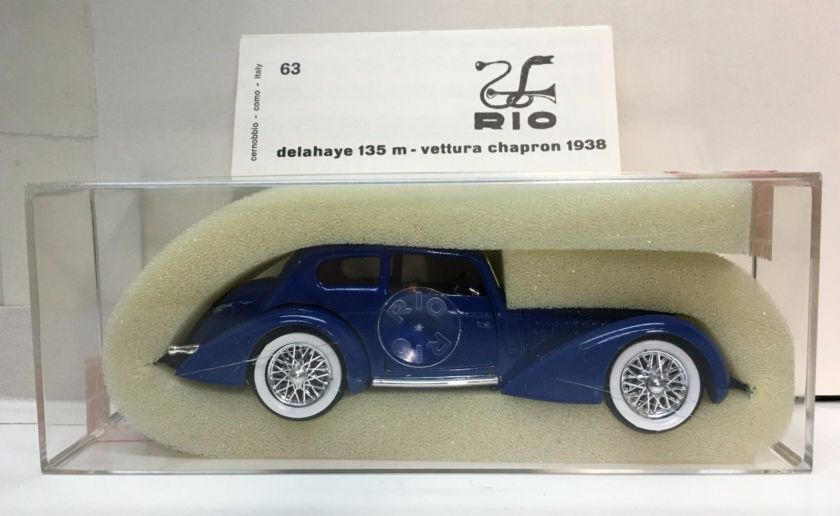 1938 DELAHAYE 135 M - 6 CILINDRI #63 IN BOX
