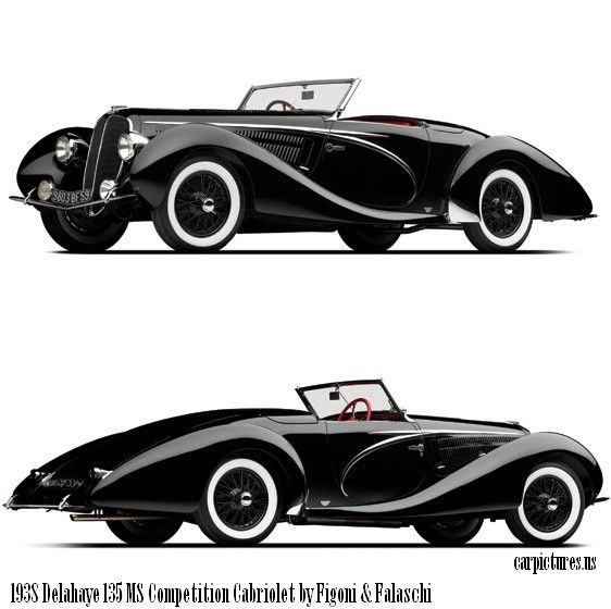 1938 Delahaye 135 MS Competition Cabriolet by Figoni