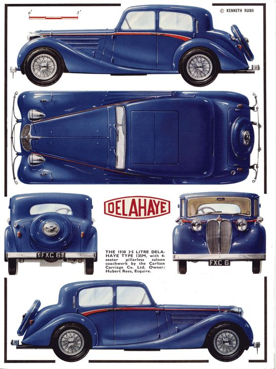 1938 Delahaye 135m ad