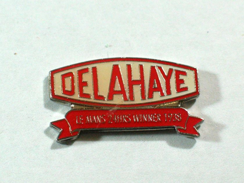 1938 Delahaye Racing Pin Le Manns Racing Pin Auto Pins