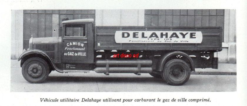 1938 PUBLICITE DELAHAYE VEHICULE UTILITAIRE TRUCK AD 1938 1F
