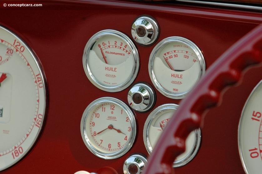1939 Delahaye 165-DV dashboard