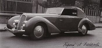 1939 Delahaye cabrio figoni et falaschi