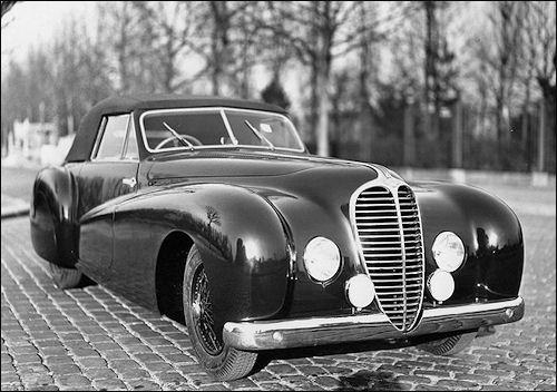 1948 Delahaye 135 cabriolet Pourtout