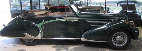 1948 Delahaye 135 MS cabriolet by coachbuilder Franay