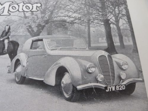 1948 Delahaye Type 135M Sales Sheet Brochure Selborne Mayfair Limited The Motor 2