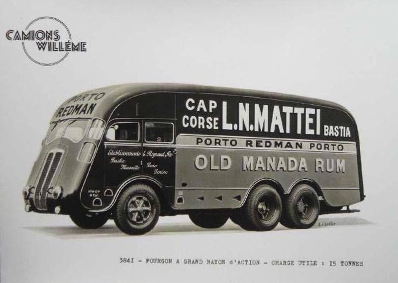 1948 Willème en Corse EXCEPTIONNEL, si quelqu' un connait l' année de ce six roues