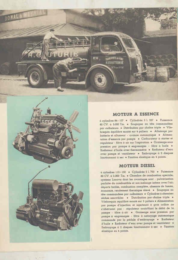 1949 Delahaye 163 Tank Dump Van Truck & Bus Brochure French wu7805 b