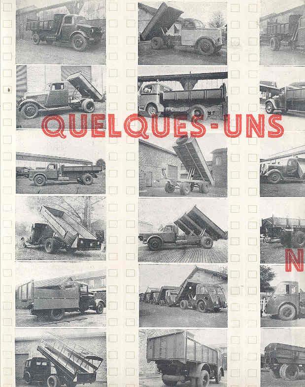1949 Samua Renault Saviem Latil Willeme Truck Brochure wn7545-2DDQUM b