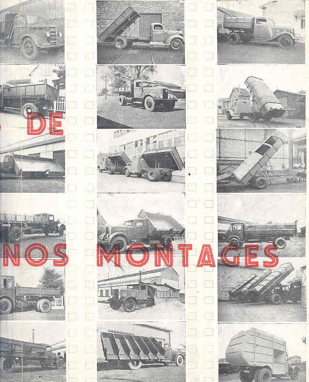 1949 Samua Renault Saviem Latil Willeme Truck Brochure wn7545-2DDQUM c