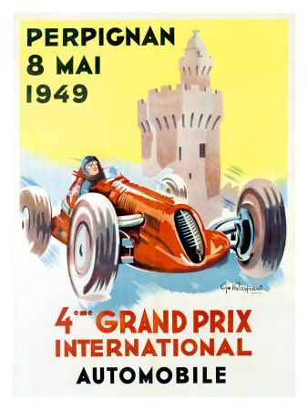 1949 Vintage Race Poster