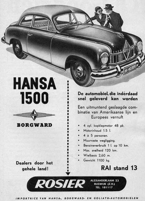 1950 borgward hansa rosier