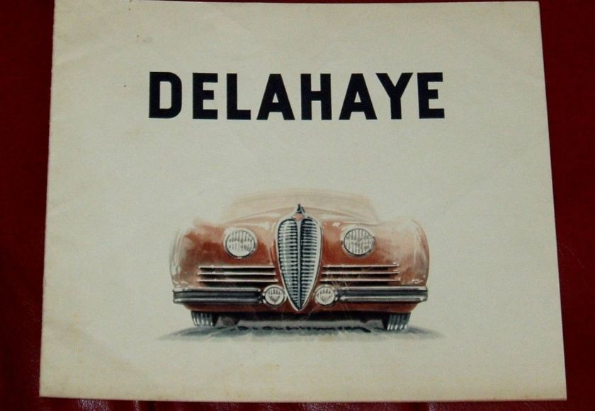 1950 DELAHAYE Type 135 M - 148 L - 135 MS - 175 - French text - 8-pgs brochure 2