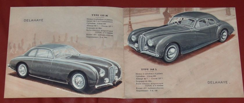 1950 DELAHAYE Type 135 M - 148 L - 135 MS - 175 - French text - 8-pgs brochure 3