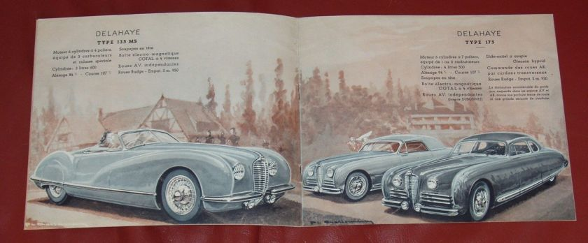 1950 DELAHAYE Type 135 M - 148 L - 135 MS - 175 - French text - 8-pgs brochure 4
