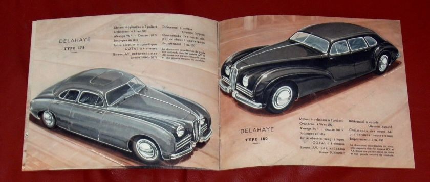 1950 DELAHAYE Type 135 M - 148 L - 135 MS - 175 - French text - 8-pgs brochure 5