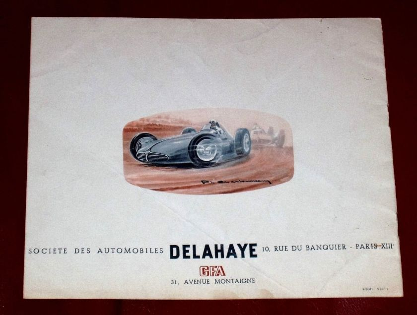 1950 DELAHAYE Type 135 M - 148 L - 135 MS - 175 - French text - 8-pgs brochure 6