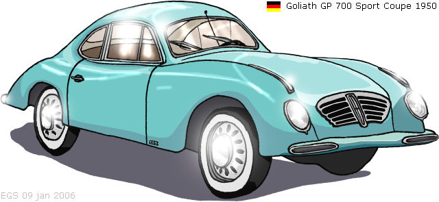 1950 Goliath GP700 Sport Coupe drawing