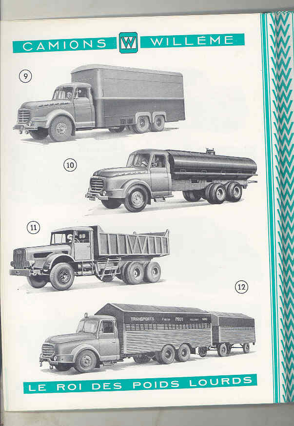 1950 Willeme 10-35Ton Construction Dump Semi Truck Brochure Military Tank wu7999 d