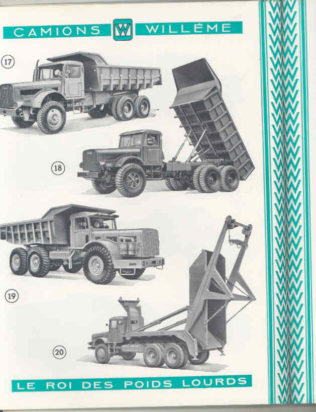 1950 Willeme 10-35Ton Construction Dump Semi Truck Brochure Military Tank wu7999 e