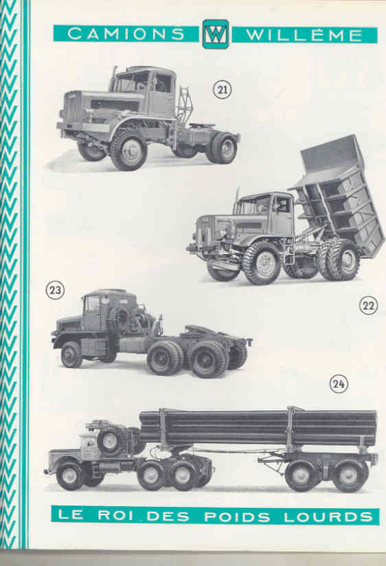 1950 Willeme 10-35Ton Construction Dump Semi Truck Brochure Military Tank wu7999 f