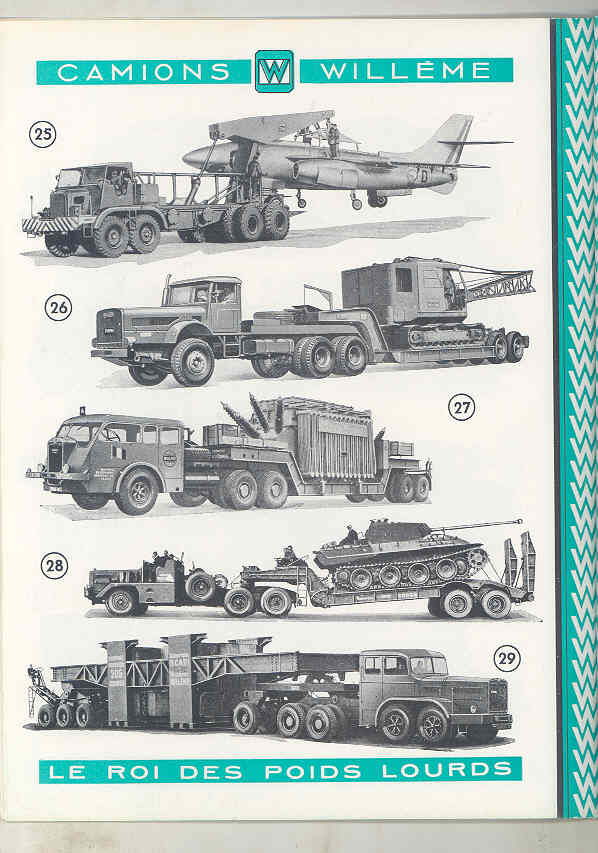 1950 Willeme 10-35Ton Construction Dump Semi Truck Brochure Military Tank wu7999 g
