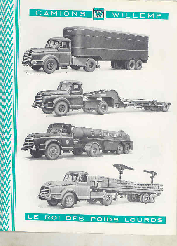 1950 Willeme 10-35Ton Construction Dump Semi Truck Brochure Military Tank wu7999 i