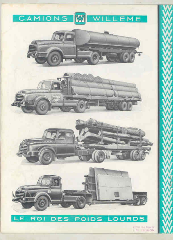 1950 Willeme 10-35Ton Construction Dump Semi Truck Brochure Military Tank wu7999 j