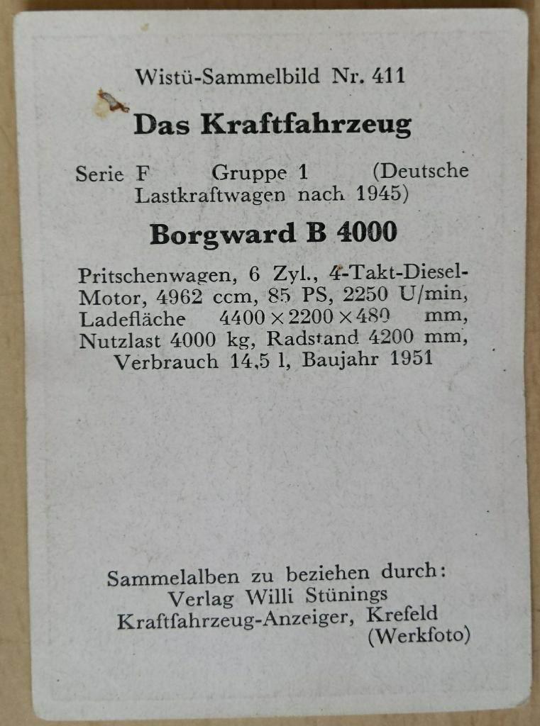 1951 Borgward B 4000