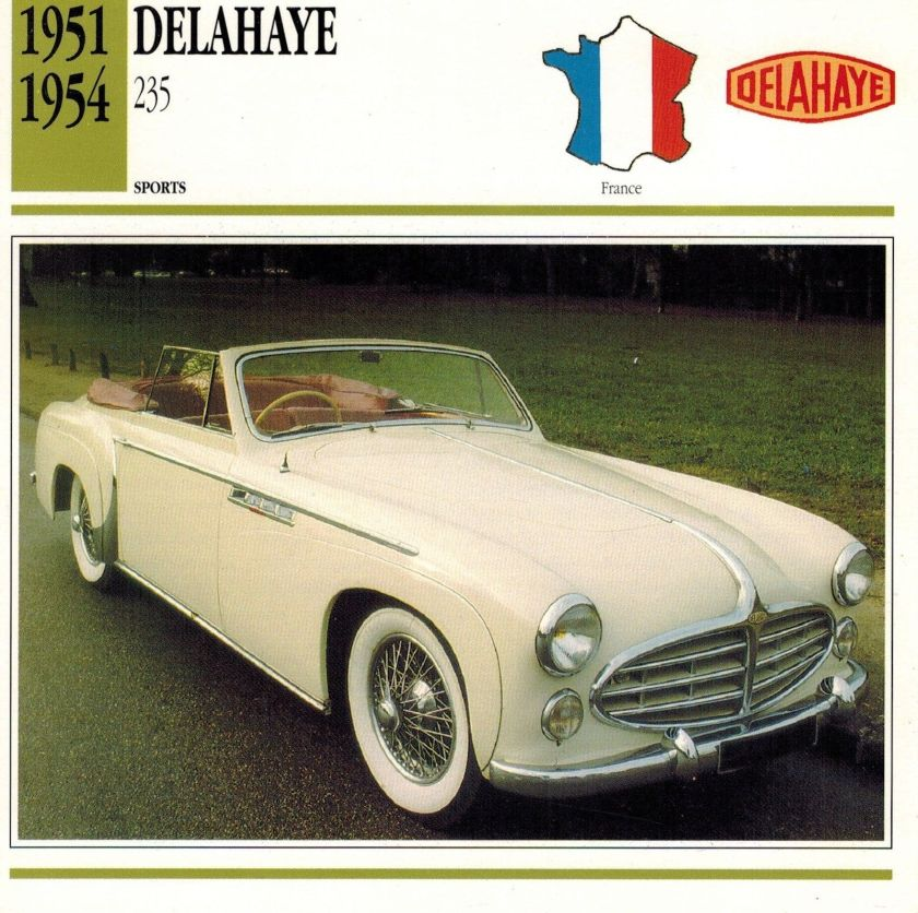 1951 DELAHAYE 1951-1954 235 ADVERTISING BROCHURE a