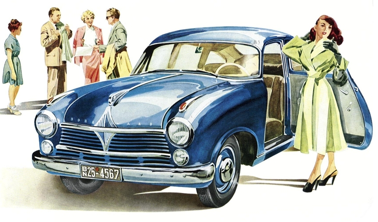 1952 Borgward Hansa 2400 promotional artwork