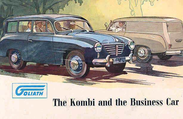 1952 Goliath station wagon sedan delivery brochure