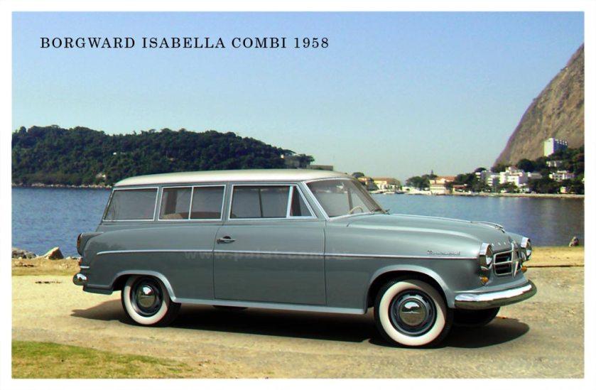 1955-61 borgward-isabella-COMBI-POSTCARD