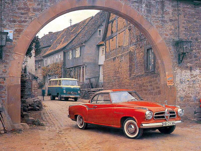 1955-61 Borgward Isabella Coupe und einen Borgward B611 Bus