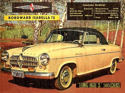 1955 Borgward Isabella Cabriolet TS ad