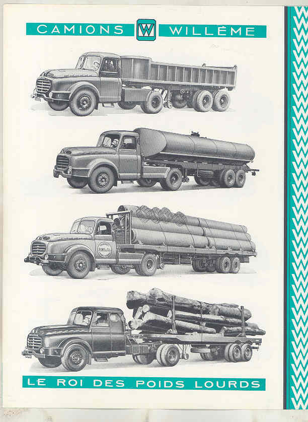 1958 Willeme 35 Ton Tractor Trailer Truck Brochure French wv8234c