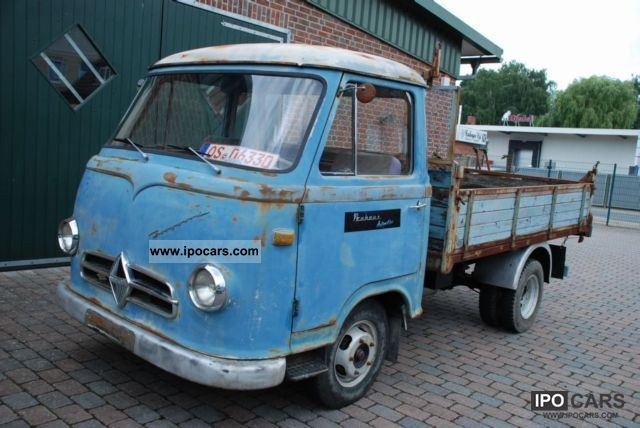 1959 borgward 1500 diesel flatbed tipper original