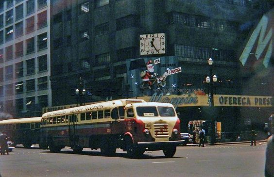 1960 FNM Bus from CMTC in Sao Paulo, Brazil