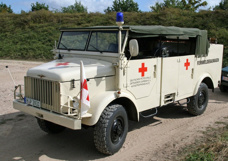 1960 Red Cross Borgward truck