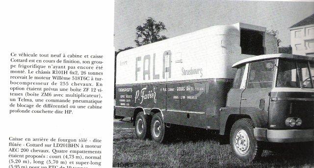 1962 Willéme R 101 H en 6x2 des Trps P.Favier caisse Cottard