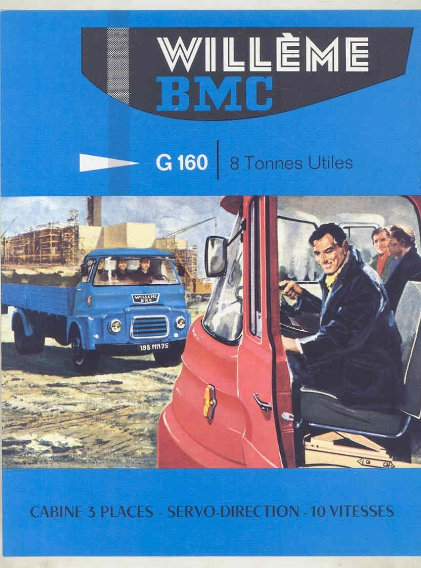 1963 Willeme BMC G160 8 Ton Diesel Truck Brochure French wv8615