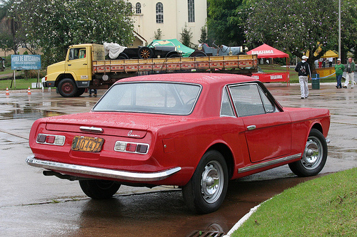 1966 FNM Onça, made by Genaro Rino Malzoni over an Alfa Romeo platform red
